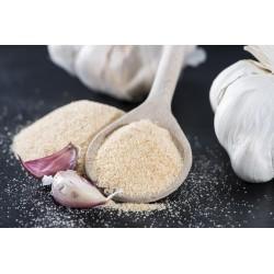 Organic garlic in semolina...