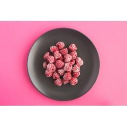 Organic dried raspberries...
