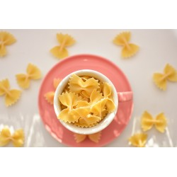 Organic Farfalle pasta or natural butterflies From France