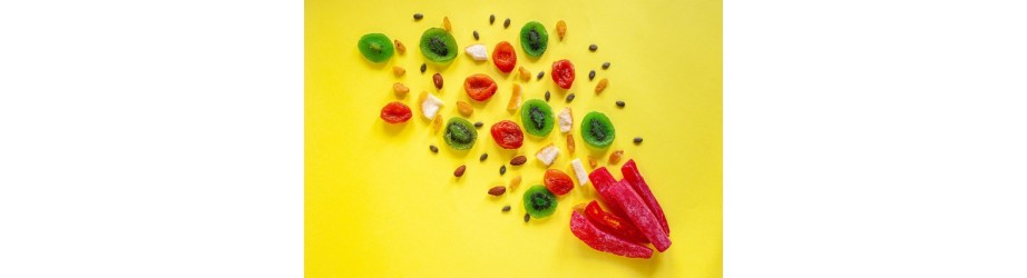 Our organic fairtrade crueltyfree candied fruits