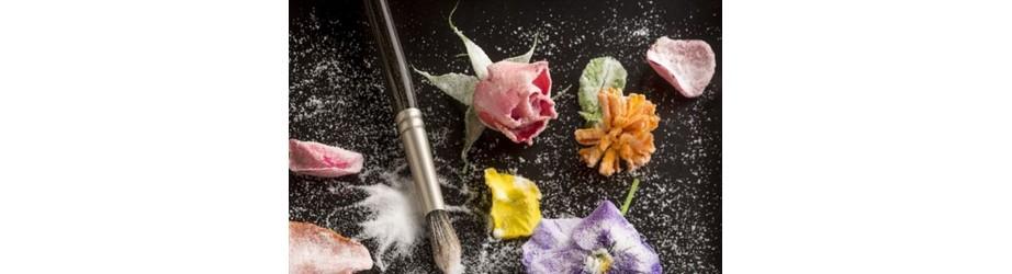 Nos  fleurs cristallisées bio fairtrade crueltyfree